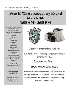flyer ewaste event Discovery 2014