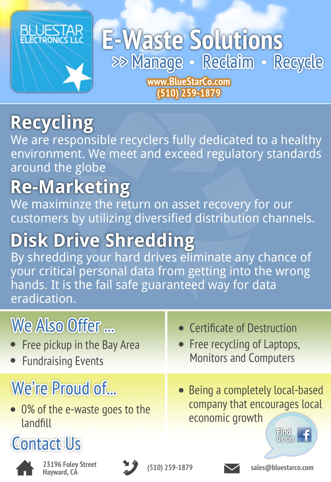 E Waste Solutions Manage Reclaim Recycle Blue Star Recycling Responsible Electronics