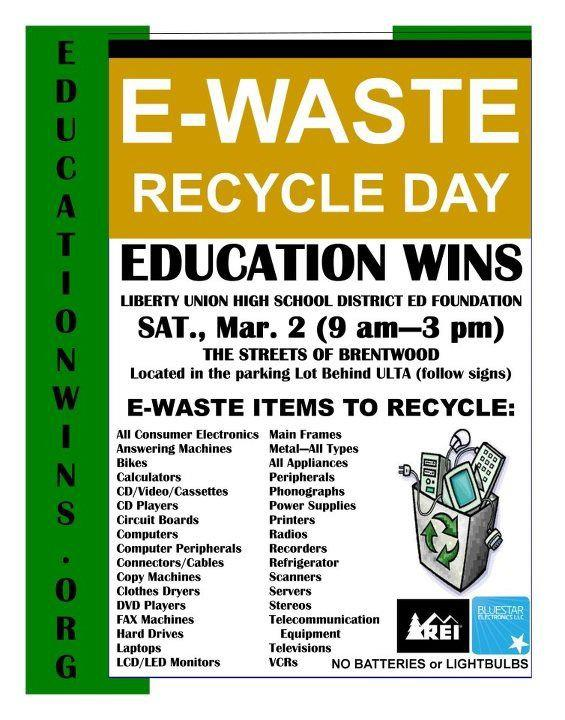 Recycling Event at The Streets of Brentwood March 2nd Be Ready!